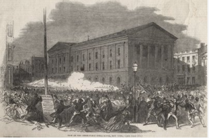 The Last Volley, Wood Engraving, 1849, Library of Congress.