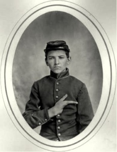 Portrait of Pvt Robert Fryer, Company G, Fifty-second New York Volunteers Reed Brockway Bontecou, photographer April-July 1865 Albumen silver print [found on Pinterest: http://www.pinterest.com/pin/344243965240098687/